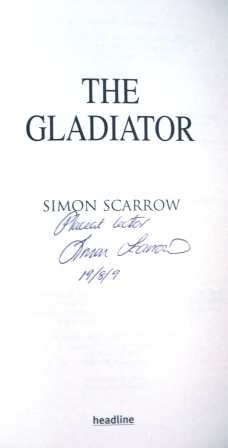 Image for THE GLADIATOR UK First Edition, Signed, Dated with Latin Inscription