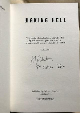 Image for WAKING HELL  Exclusive Hardback  Limited Edition Of Only 300  Signed & Numbered