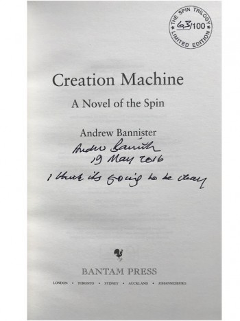 Image for CREATION MACHINE - Signed, Lined, Dated & Numbered First Edition