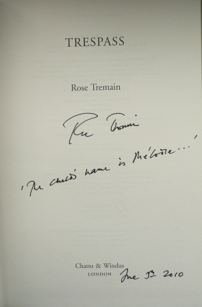Image for TRESPASS Signed, Lined & Dated UK First Edition