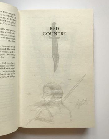 Image for RED COUNTRY - Signed,Lined & Dated by the Author and Pencil Drawing by the Illustrator - Didier Graffet