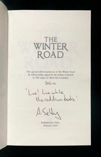 Image for THE WINTER ROAD Signed & Numbered Limited Hardback Edition