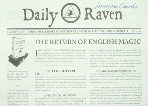 Image for Daily Raven ***Jonathan Strange & Mr Norrell Promotional newspaper - Signed***