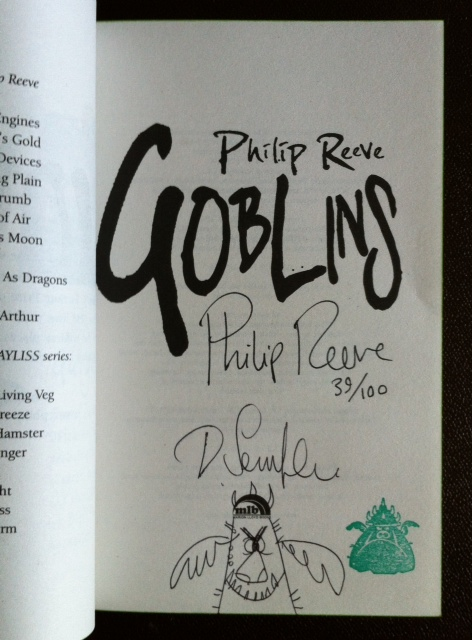 Image for GOBLINS Double Signed, Numbered & Stamped First Edition with Doodle by Illustrator Dave Semple
