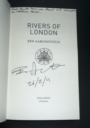 Image for RIVERS OF LONDON, MOON OVER SOHO, WHISPERS UNDER GROUND, BROKEN HOMES, FOXGLOVE SUMMER, THE HANGING TREE, LIES SLEEPING Set of 7 Signed UK First Editions