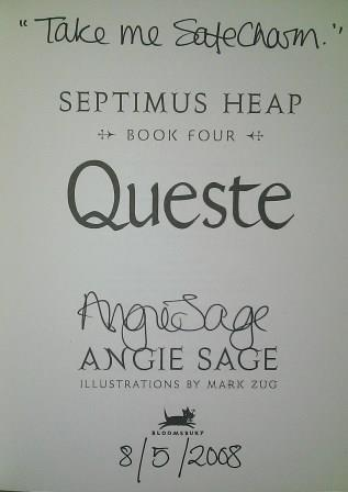 Image for QUESTE Signed, Lined & Dated First Edition.