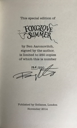 Image for FOXGLOVE SUMMER Signed & Numbered First Edition (Special Edition with green page edges, limited to 250 copies)