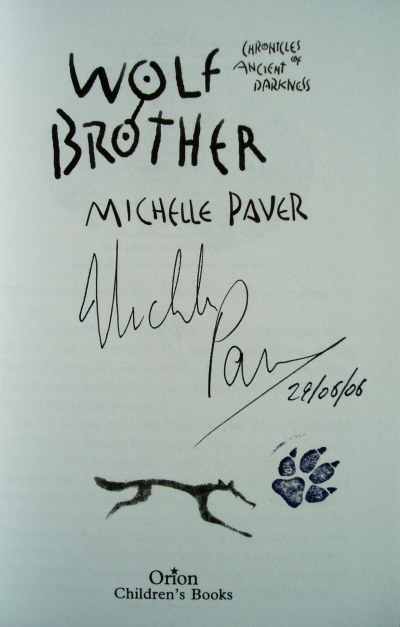 Image for WOLF BROTHER Signed, Dated & Pawprinted First Edition