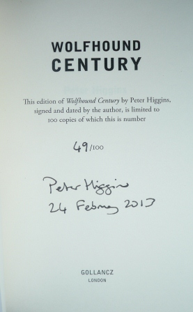 Image for WOLFHOUND CENTURY Signed, Pre-Publication Dated & Numbered First Edition