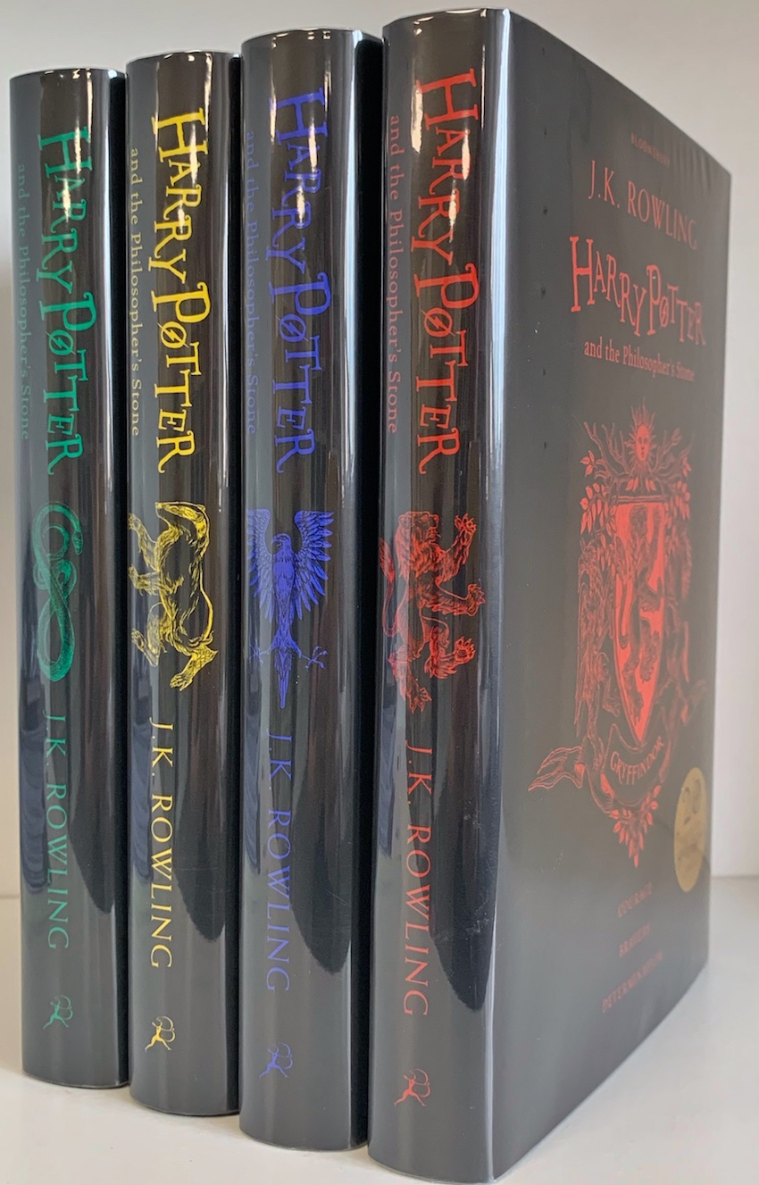 Image for Harry Potter and the Philosopher's Stone House Editions - 20th Anniversary Editions. All rare first printings of this edition. PLUS promotional Tote Bag and Bookmark.