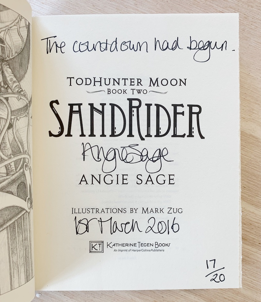 Image for Set of 3 Books in the Todhunter Moon series: PATHFINDER, SANDRIDER & STARCHASER. Signed, Lined & Numbered US First Editions.
