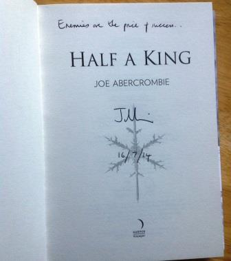 Image for HALF A KING Signed, Lined & Dated UK First Edition