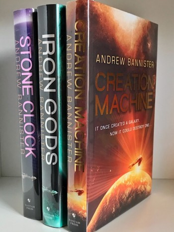 Image for Matching Numbered set of: CREATION MACHINE, IRON GODS & STONE CLOCK- Signed, Lined & Numbered First Editions