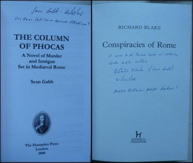 Image for CONSPIRACIES OF ROME - Signed,Lined & dated PLUS +  THE COLUMN OF PHOCUS - Signed,Lined & dated