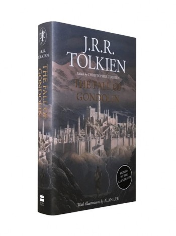Image for THE FALL OF GONDOLIN Signed First Edition plus Bookmark (Signed by Illustrator Alan Lee) -