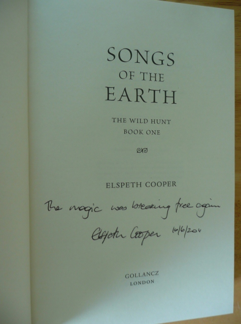 Image for SONGS OF THE EARTH Signed, First Lined & Publication Dated UK First Edition