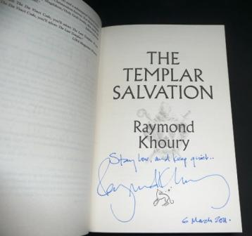 Image for THE TEMPLAR SALVATION Signed, Lined & Dated UK First Edition