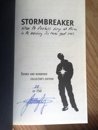 Image for STORMBREAKER Signed, Numbered & Lined Limited Edition.