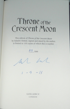 Image for THRONE OF THE CRESCENT MOON Signed & Numbered First Edition