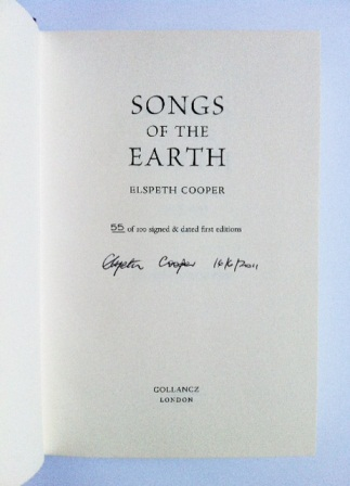 Image for SONGS OF THE EARTH - Numbered, Signed & Dated First Edition + Signed Postcard