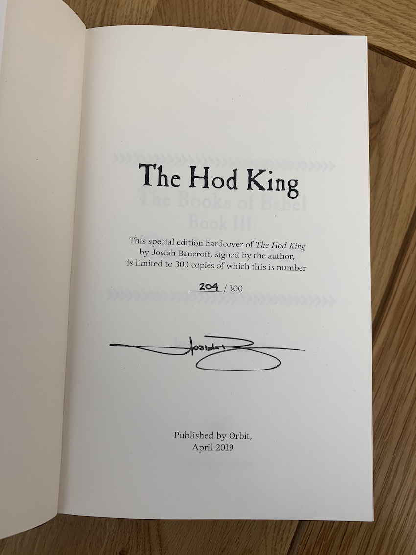 Image for THE HOD KING Signed & Numbered Limited Edition