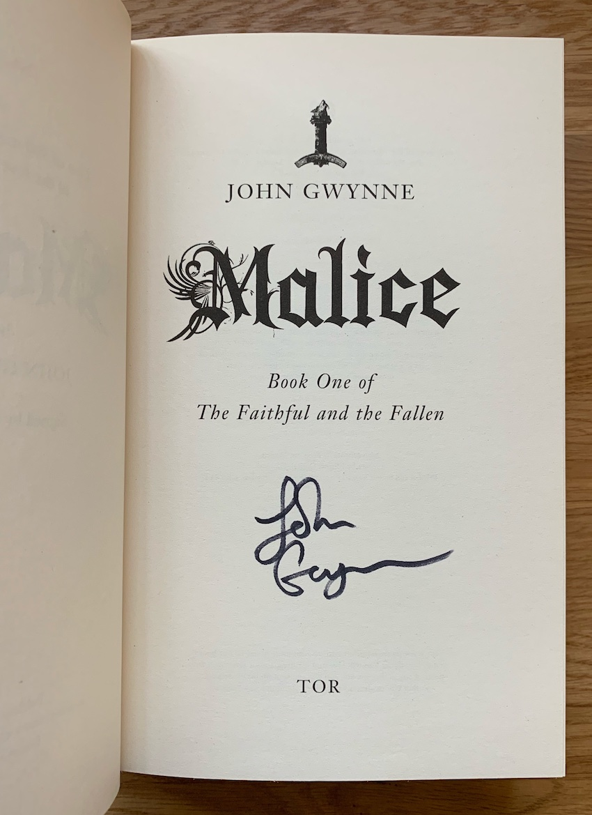 Image for MALICE - Limited, Signed & Numbered First Edition.