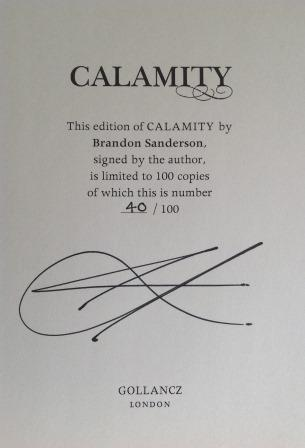 Image for CALAMITY - Exclusive Signed & Numbered First Edition