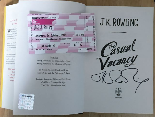 Image for THE CASUAL VACANCY First Edition, Signed at the Cheltenham Literary Festival