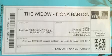 Image for THE WIDOW - Signed,Lined & Dated First Edition + Event Ticket