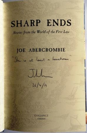 Image for SHARP ENDS - Signed,Lined & Dated First Edition + Bookmark.