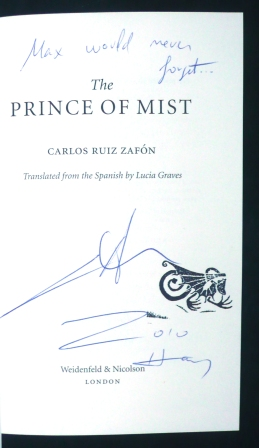 Image for THE PRINCE OF MIST - UK First Edition,Signed,Lined,Dated & Stamped