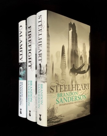 Image for Set of 3 Books: STEELHEART, FIREFIGHT & CALAMITY (THE RECKONERS TRILOGY)- Signed & Numbered First Editions. Plus Signed MITOSIS novella.