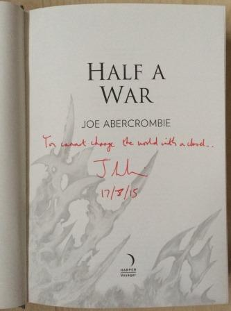 Image for HALF A WAR - Signed, Lined & Dated First Edition