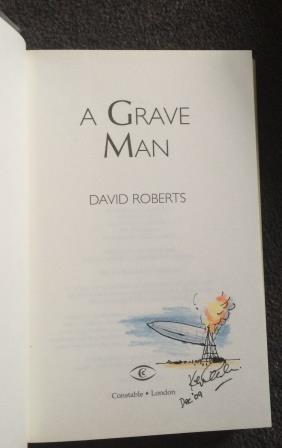 Image for A GRAVE MAN - First edition. Signed & Doodled by the illustrator.