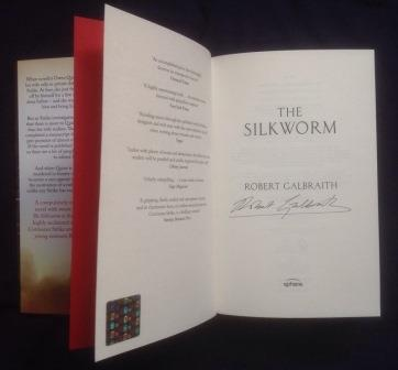 Image for THE SILKWORM Signed First UK Edition with Hologram